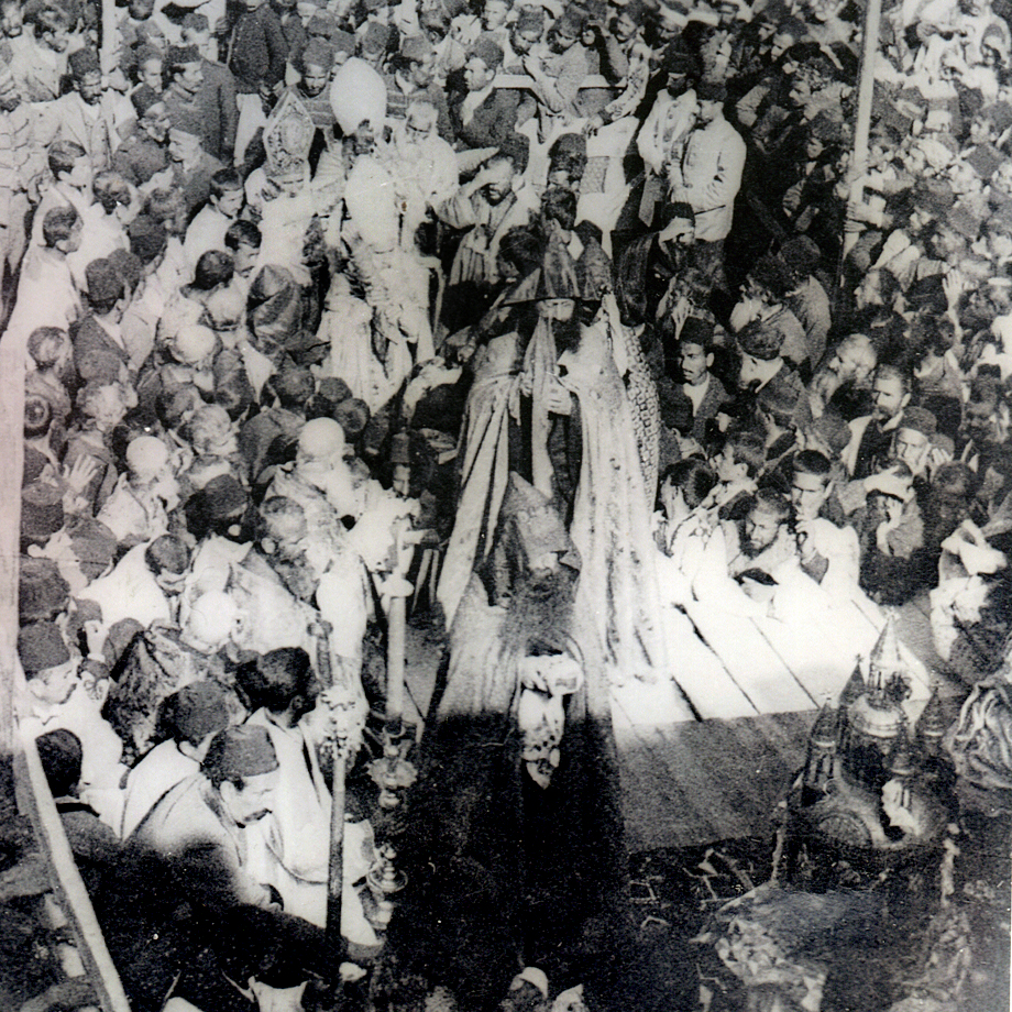 Sis, circa 1904: A scene from the Blessing of the Muron ceremony