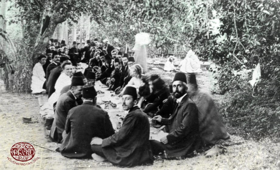 Kharpert/Harput region, 1914. During a picnic held by the Armenian Mission workers and their friends