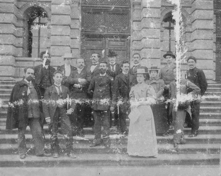 Ցիւրիխ, 1899, ուսանողական խմբանկար