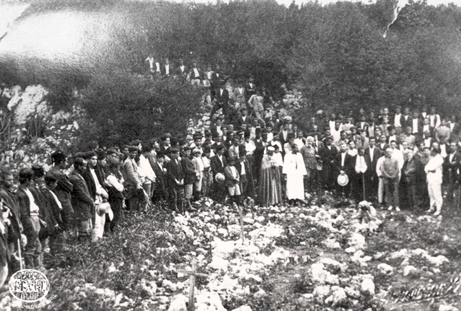 Մուսա Լերան վրայ Տամլաճիք կոչուող վայրը, մօտաւորապէս 1928 Սեպտեմբերի կիսուն