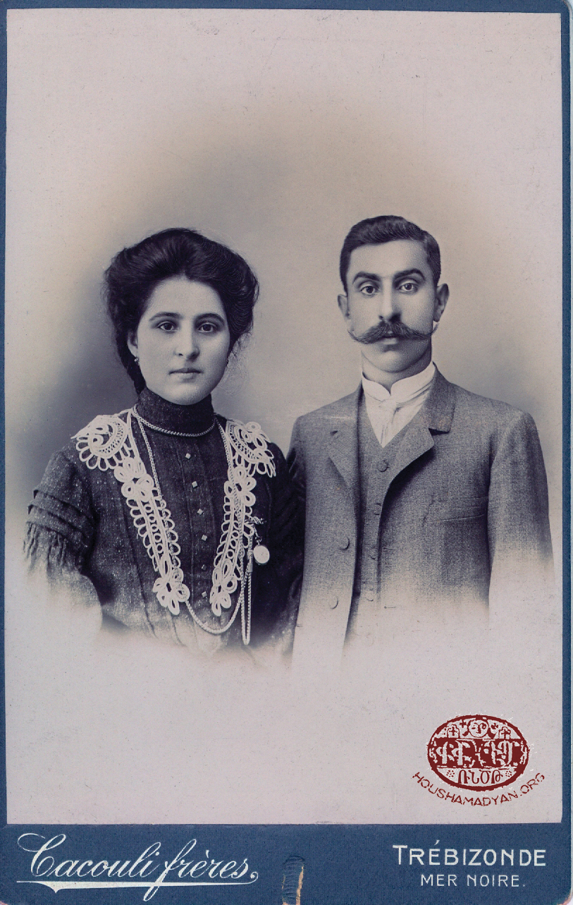 Isguhi Antreassian from Ordu and her husband (name unknown)