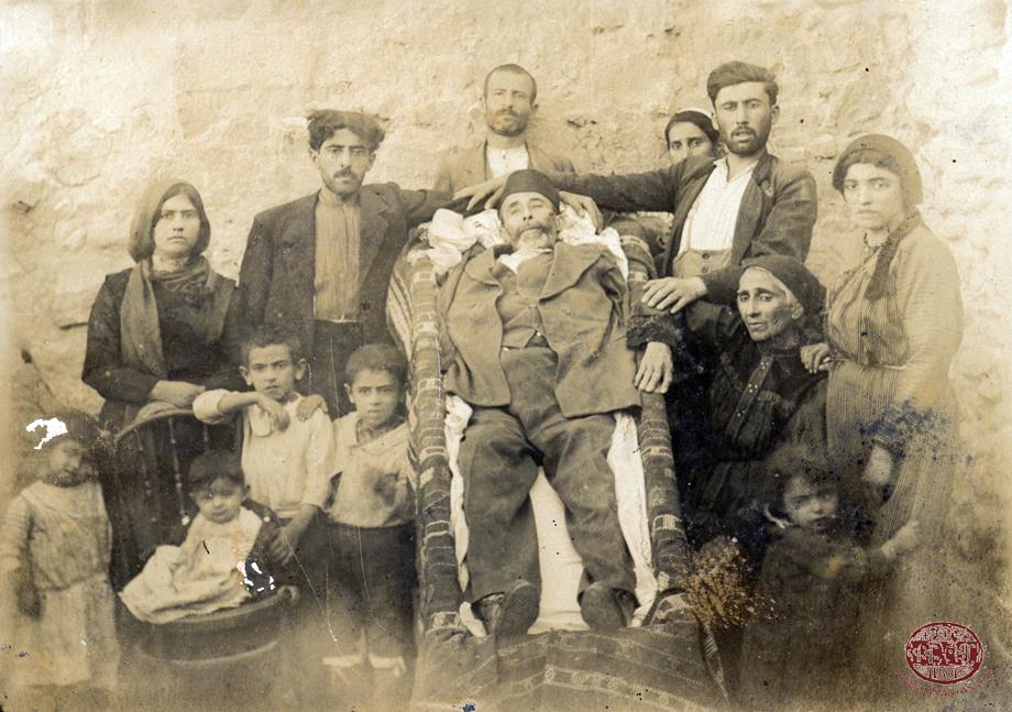 Salt. 1918. Bedros Peltekian, who died while in exile, lying in casket