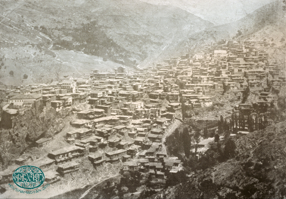 Hadjin, 1914: On the left, we can see two churches