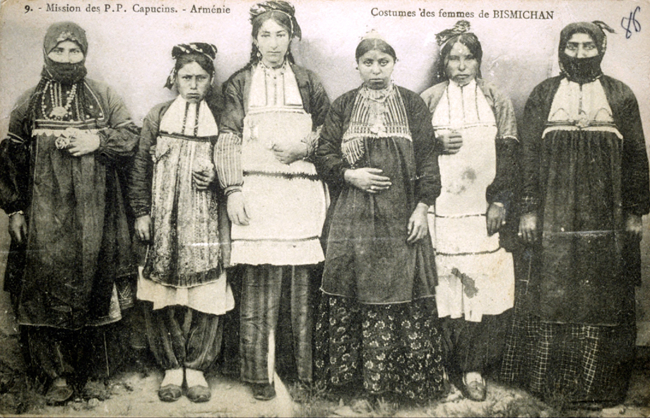Women of Pazmashen (Bizmişin, currently Sarıçubuk) in their traditional costume