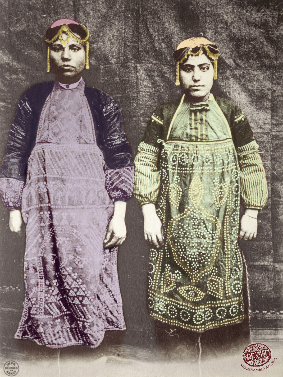 Pazmashen (Bizmişin, currently Sarıçubuk). Armenian women in village dress