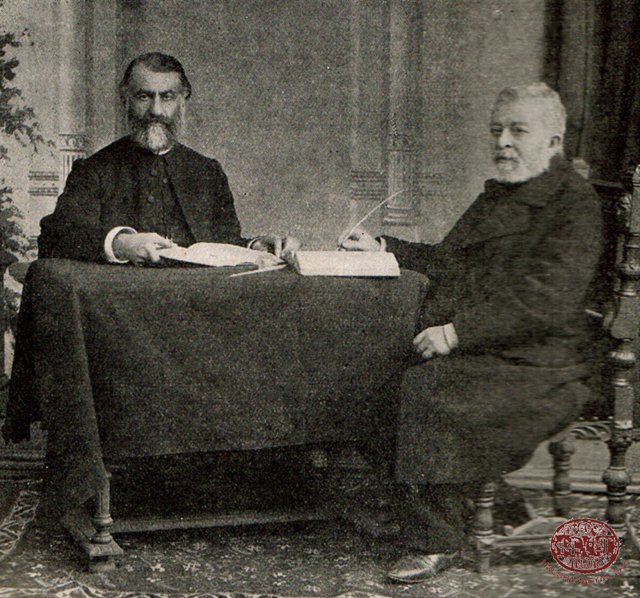 Pastor Avedis Gosdanian (left); Madatia Karakashian (right)