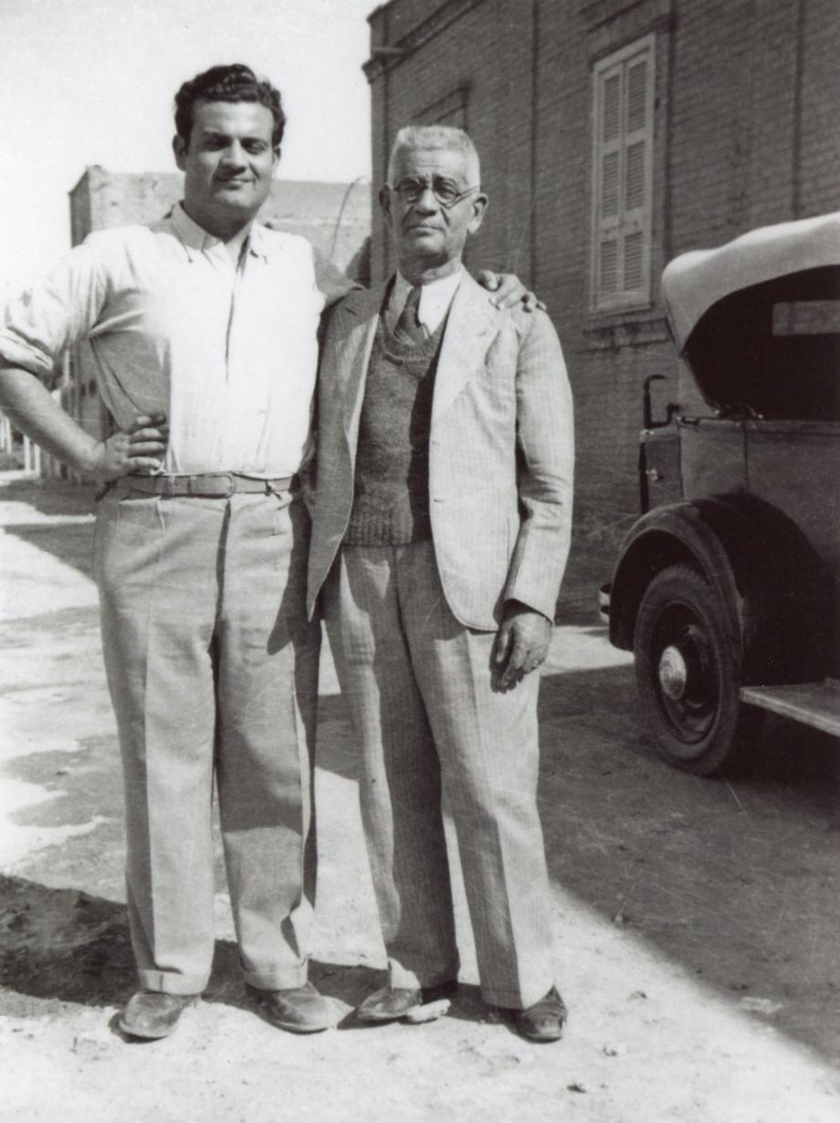 1945 Khartoum - George Djerdjian with his son, Edward