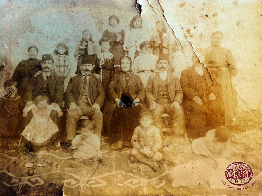 Adana, 1897. The Gechijian family
