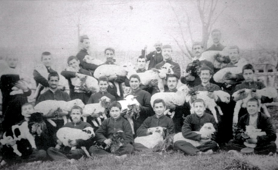 Armash: Group photo of Armenian seminary students