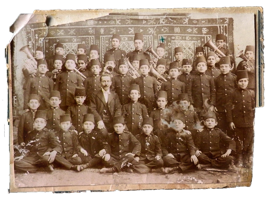 Bilecik/Bilejik, 1911. Brass band composed of students of local Armenian school