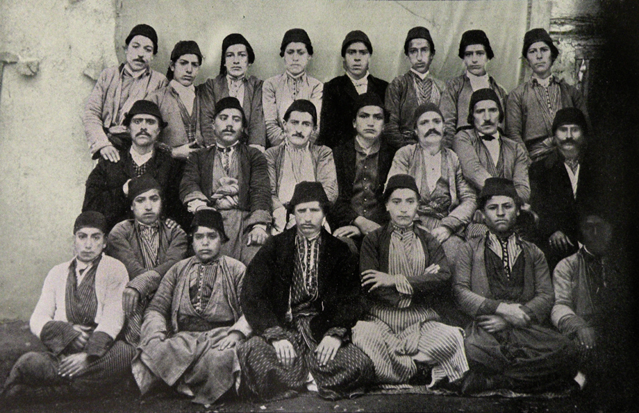 Group photograph of students of the American School, Harput 1871