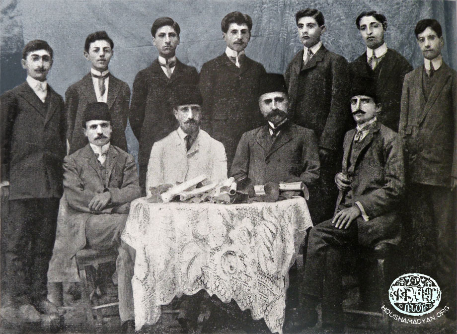 Harput, 1909. The teachers and graduates of the St Hagop Central School