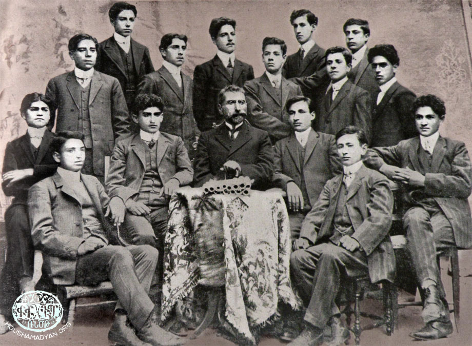 Harput, 1910. Graduates of the St Hagop Central School