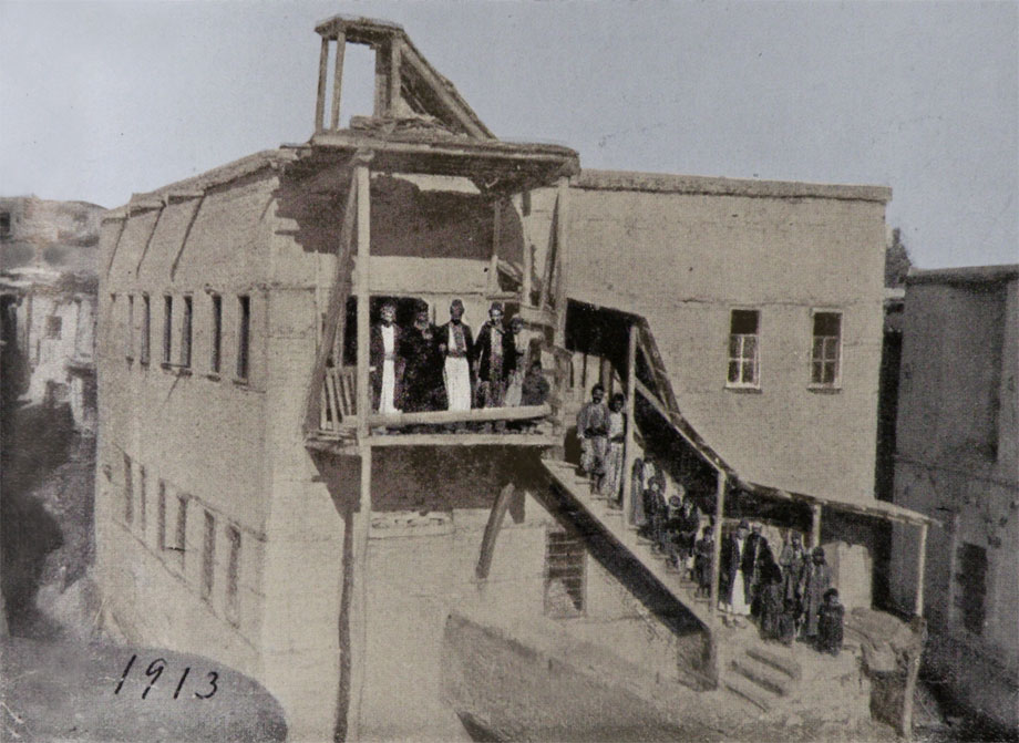 Hoghe (now Yurtbaşı) village's two-storey school (built in 1911)