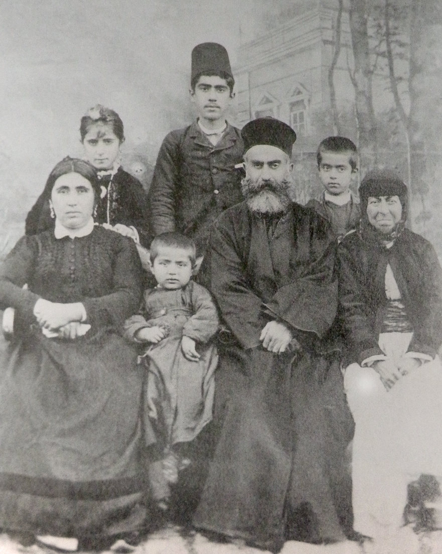 1894 - Rev. Der Ghevont Nahabedian of Marash and family