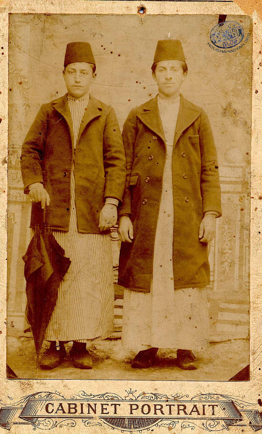 Yeghia Mooradian (left) and Yervant Garabedian (right) from Pazmashen village.