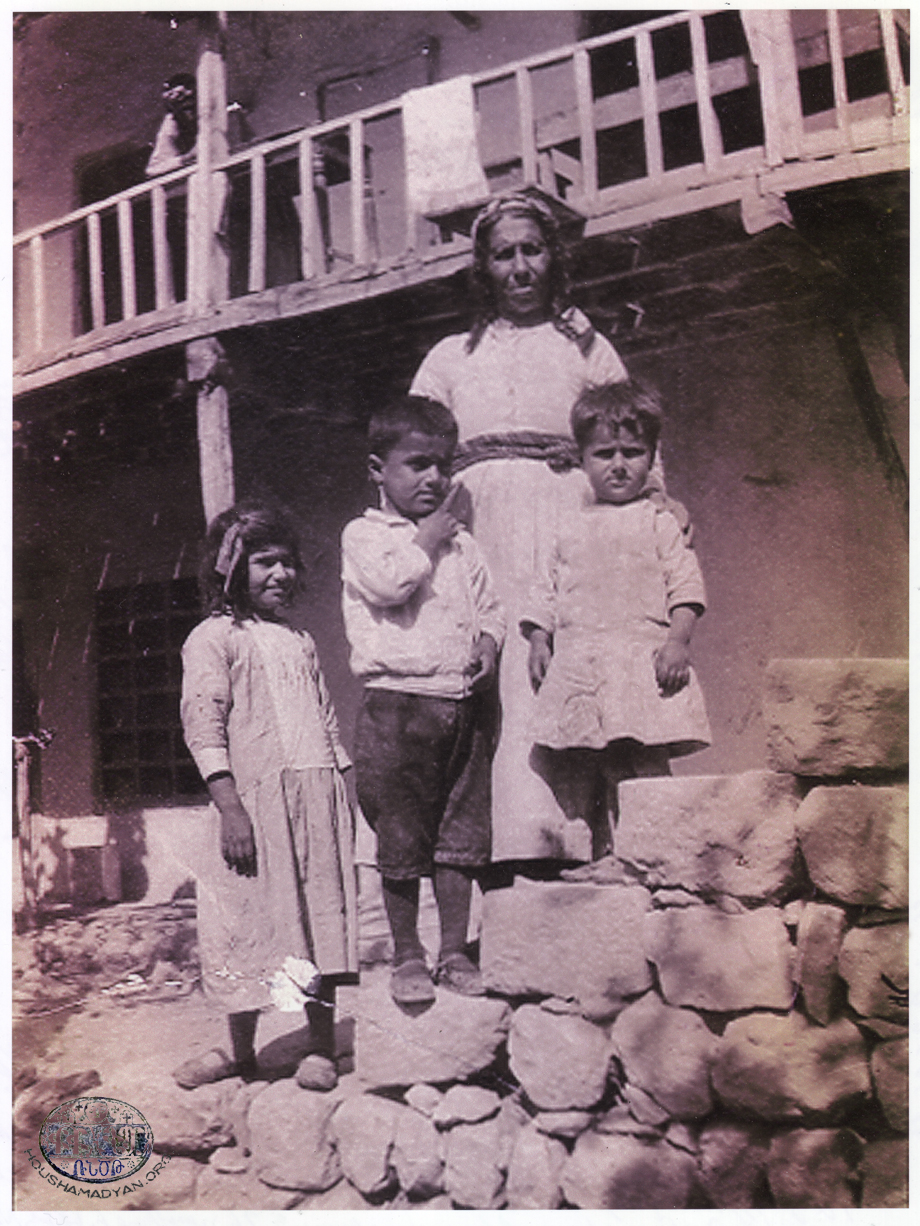 Yoghoun Olouk, circa 1931-1932. Hermineh Shirikian and her grandchildren