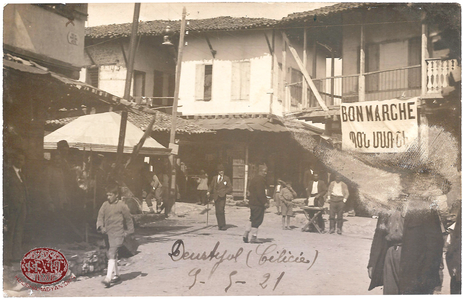 Dörtyol, 1921. Street life during the French occupation period (Source: Grégoire Tafankejian, Valence)