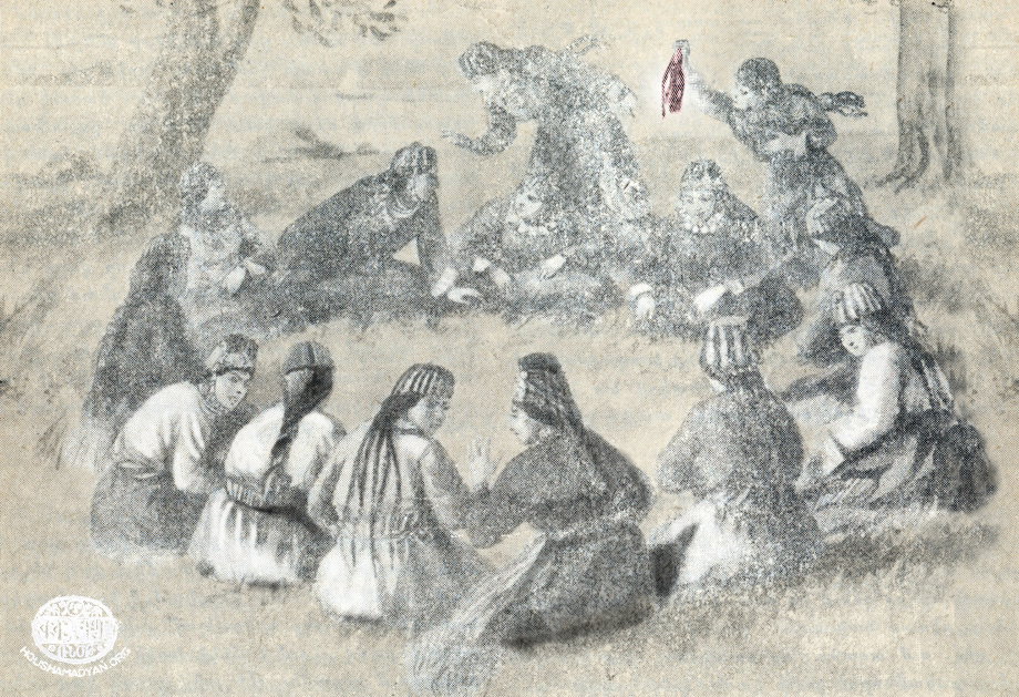 Throwing handkerchief game