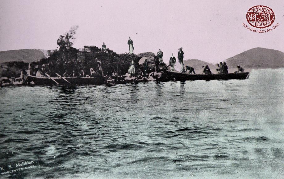 Ծովք (Կէօլճիւք) լիճը եւ կղզիին վրայ կառուցուած Ս. Նշանի վանքի աւերակները