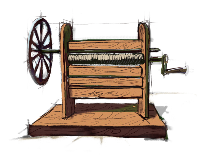 The djerdjer or cotton gin