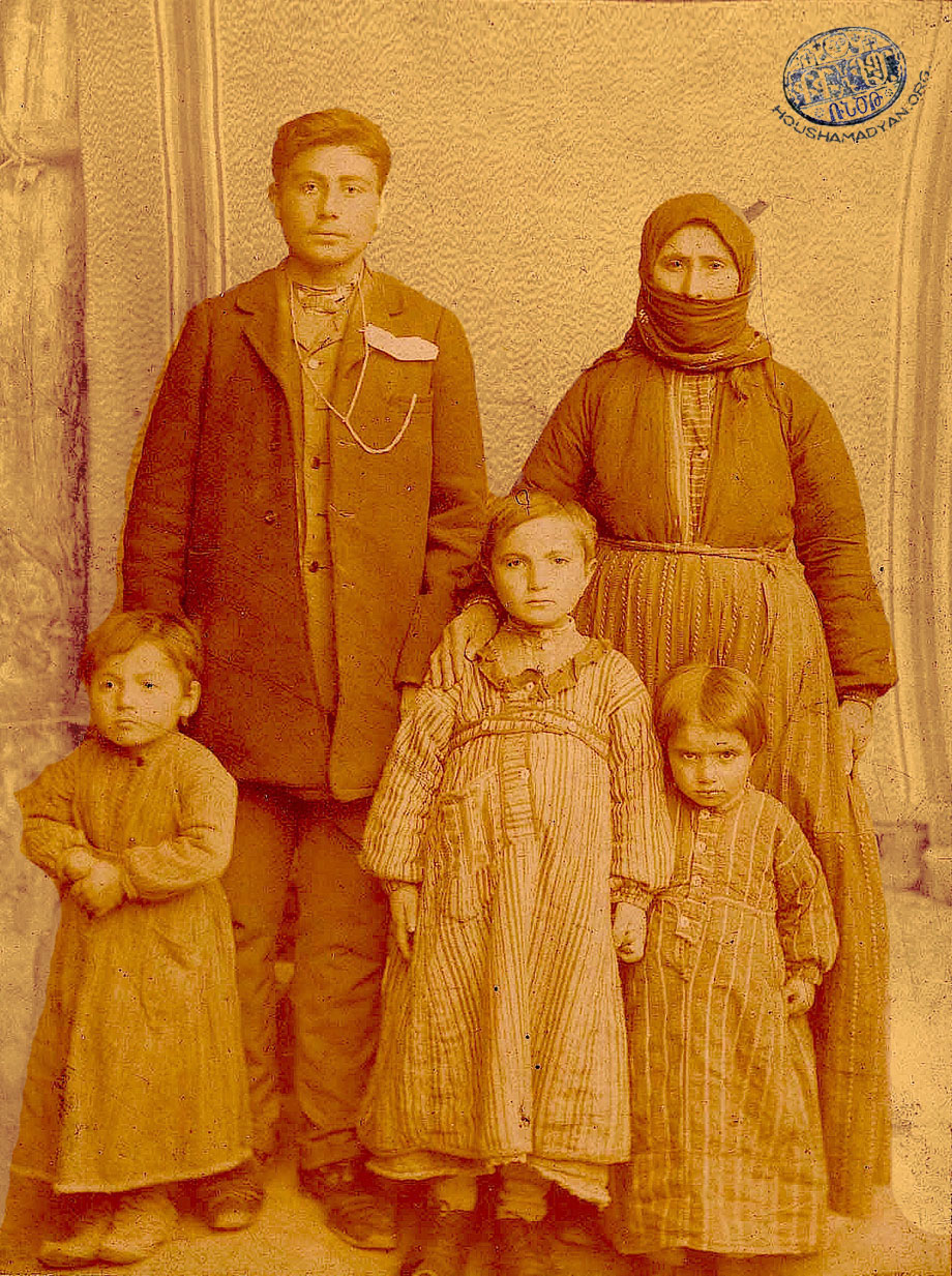 An Armenian family from the village of Pazmashen (Source: Craig Wallen collection)