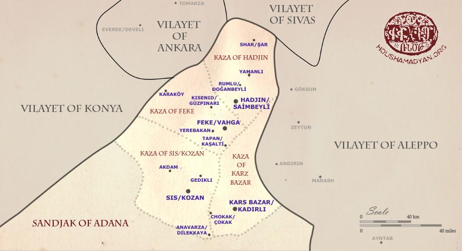 Maps Vilayet of Adana Sandjak of Sis Houshamadyan a project