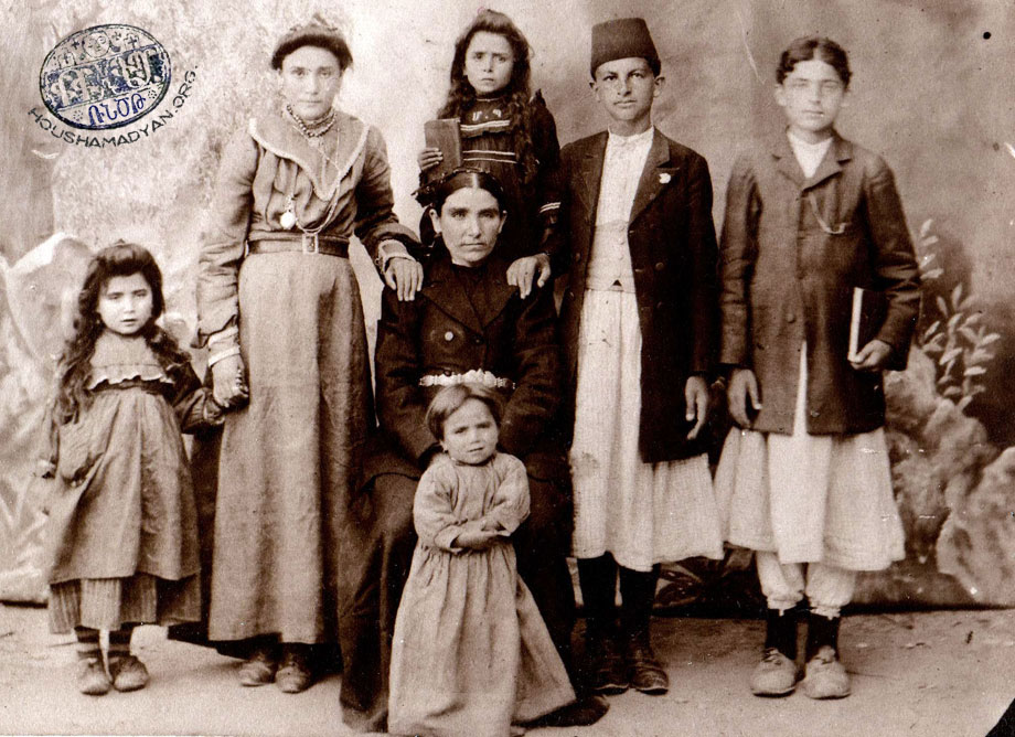 The Avedian family, Mezire, ca 1910.
