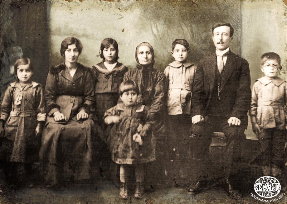 Family of Sis native Misak Keleshian, photographed in 1921