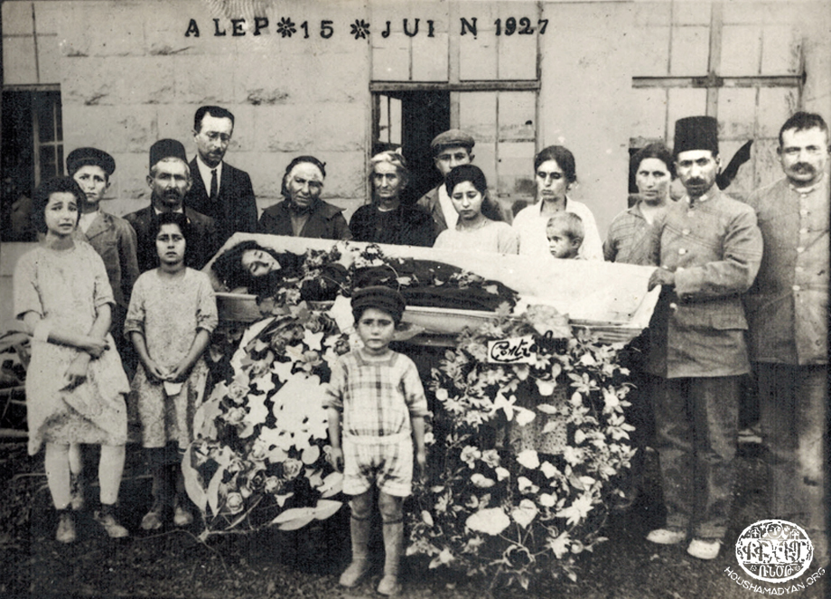Aleppo – 1927. Funeral of Srpouhie Keleshian (nee Baridian)