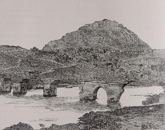 Panorama of the town of Palu (source: C.F. Lehmann-Haupt, Armenien Einst und Jetzt, Berlin, 1919, p. 466)