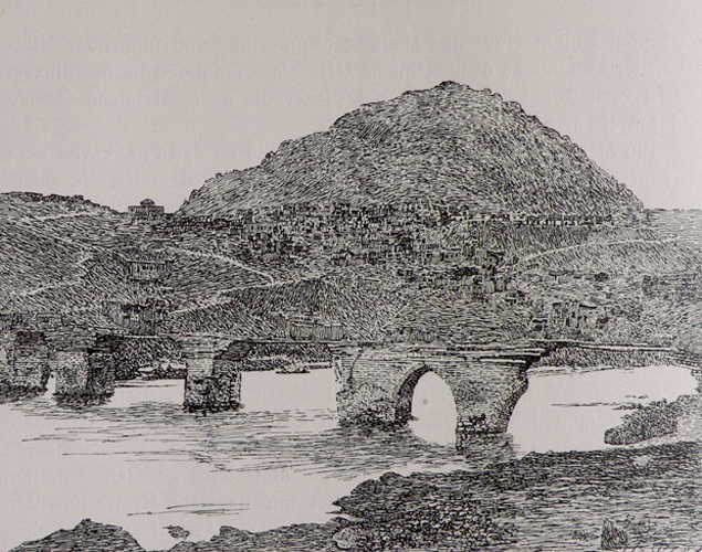 Բալու քաղաքին համայնապատկերը (աղբիւր՝ C.F. Lehmann-Haupt, Armenien Einst und Jetzt, Berlin, 1919, էջ 466)