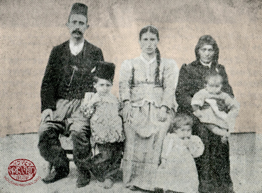Peri: Haroutiun Gopoian (seated at left) and his family