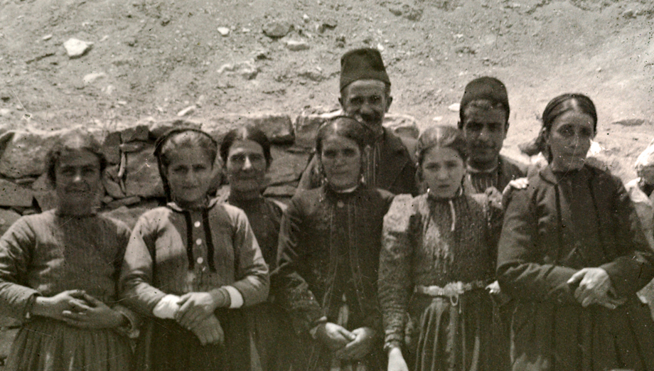 Armenians in Arapgir, photo is probably taken in front of the town's all-girls' Armenian school
