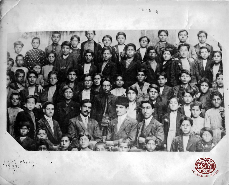 Lower Quarter, Harput, 1913. The students and teachers of the St Stepannos school