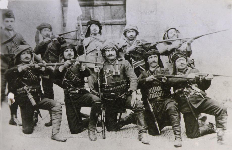 Husenig – 1912. Local theater group stages performance of Zoravar Antranig