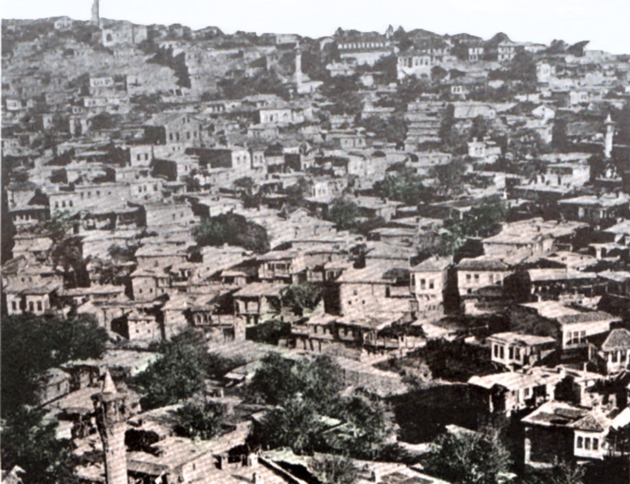 [Translate to Türkisch:] Marash. The Sheikh Mahallesi, Divanli and Shekerli quarters (Kalusdian, op. cit.)
