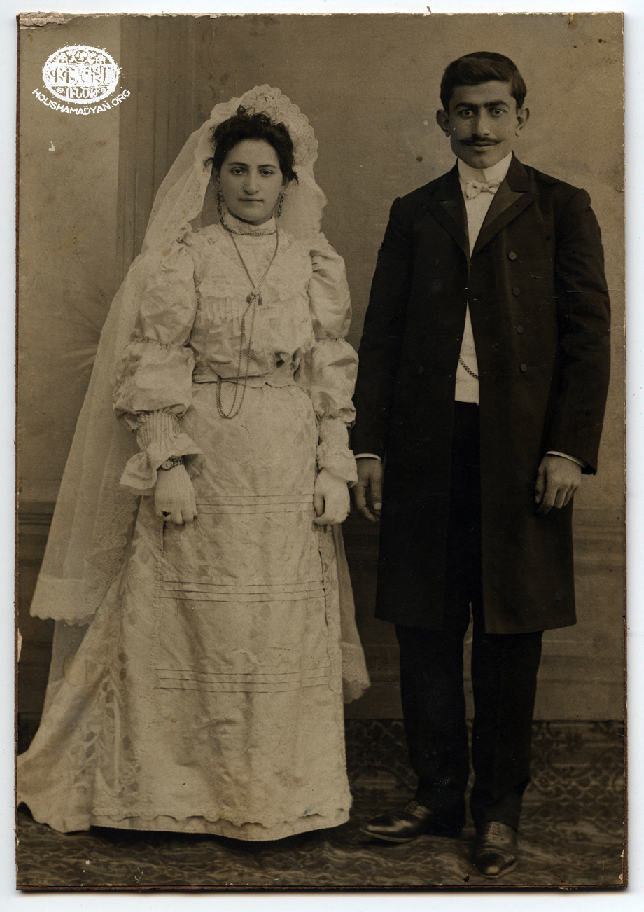 Yozgat, 1907 – Wedding photo of Shnorhig Berberian and Arakel Arakelian