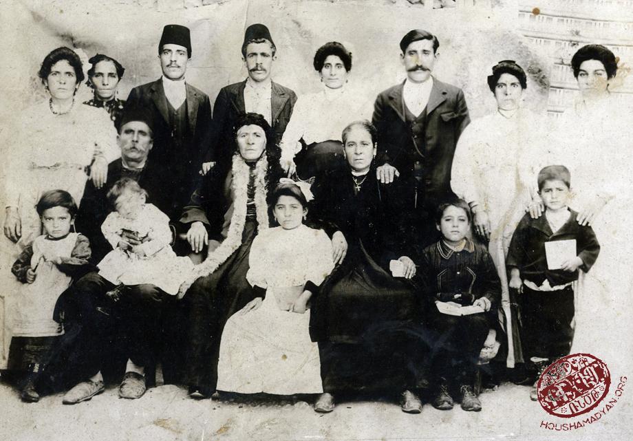 Ermeni bir aile, Harput şehri, 1915 civarı