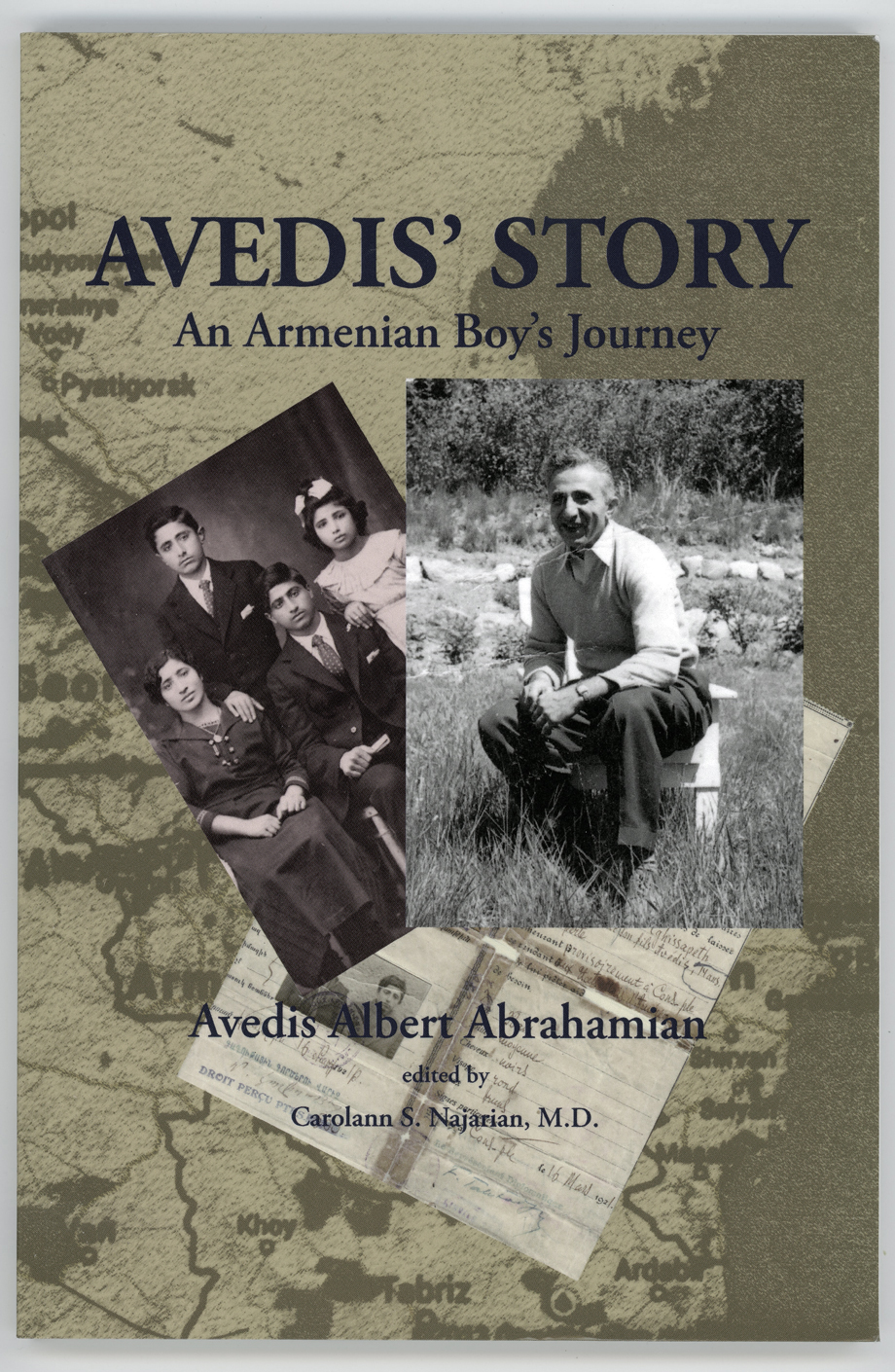 The cover of Avedis Abrahamian's book of memoirs