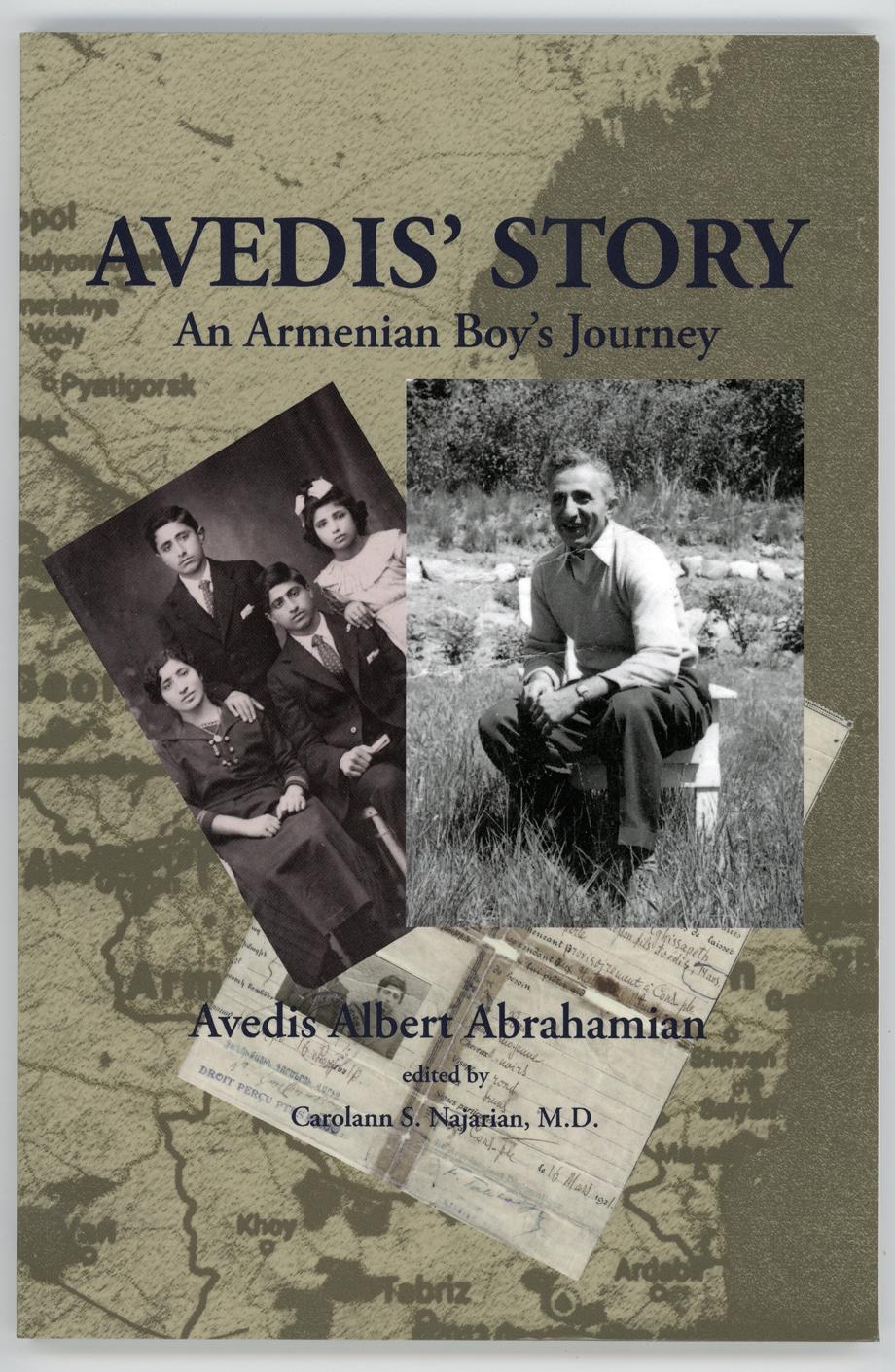 Avedis Abrahamyan'ın anılarının kitabının kapağı