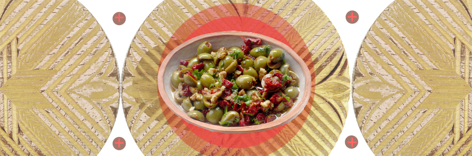 Pezurgani with olives