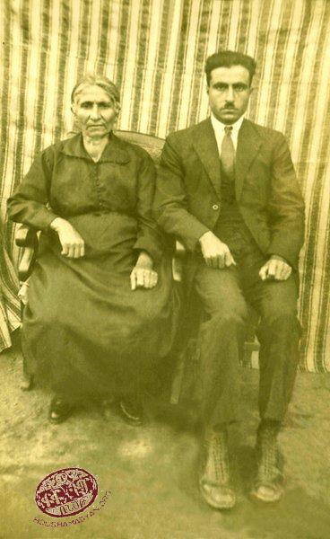 1. Elmas Der-Meguerditchian (née Kurkdjian), born in Marash and her son Levon Der-Meguerditchian (a merchant from Marash). Most probably photgraphed in Marash (Source: Silvina Der-Meguerditchian collection)