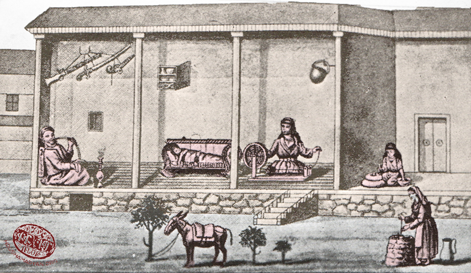 Drawing of an Armenian house in Marash (Source: Kalusdian, op. cit.)