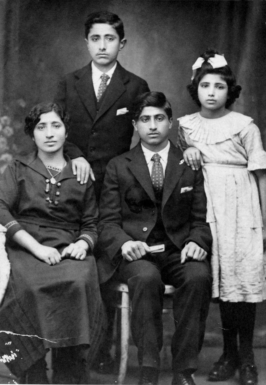 Istanbul, 1920. Seated: Elzabeth Abrahamian (mother); Abraham. Standing: Avedis; Araxie