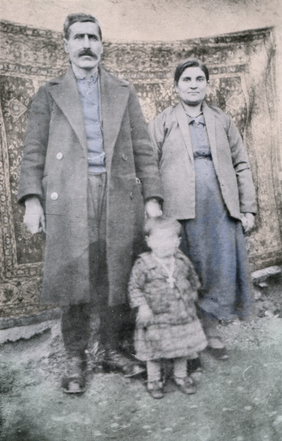 Melkon Nazarian (from Agn), his wife Nazeni, and their son, Avedis Nazarian