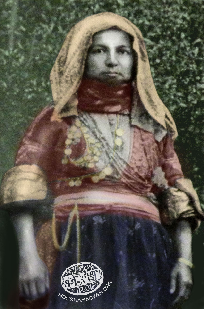 An Armenian woman in festival costume