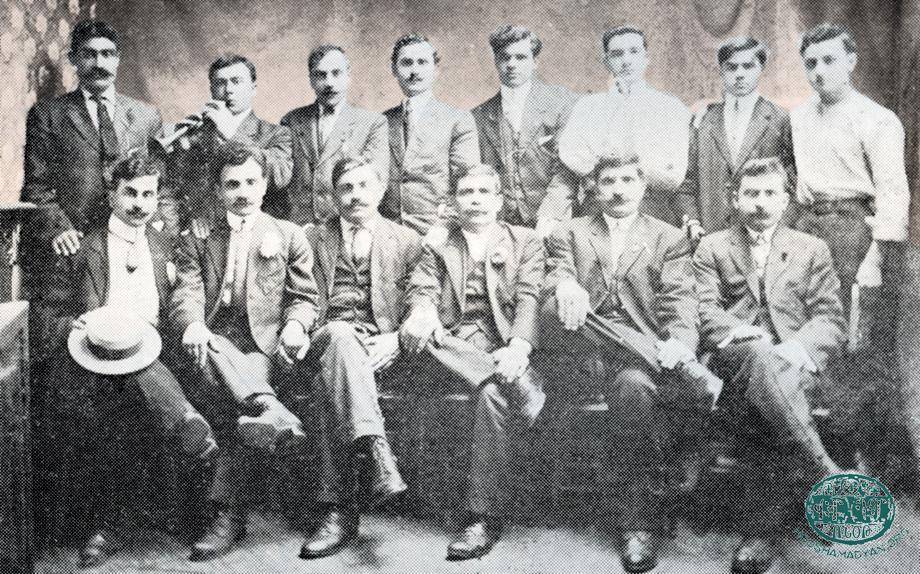 Լորէնս (Մասաչուսէց, Միացեալ Նահանգներ), 1912. Հազարի գիւղին Ուսումնասիրաց ընկերութեան անդամները