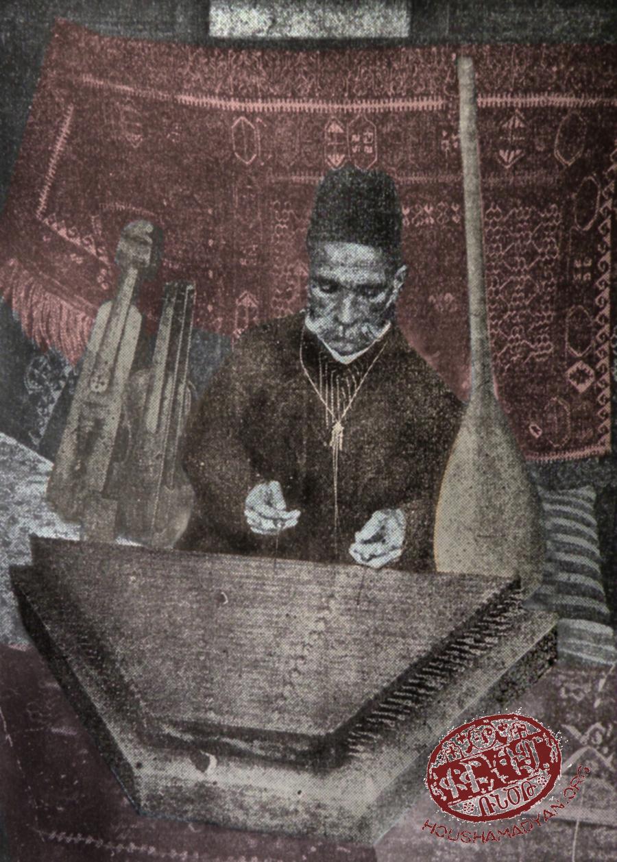 Զէյթուն, 1913. Արթին աղա Չոլագեան, քանոն նուագելու պահուն