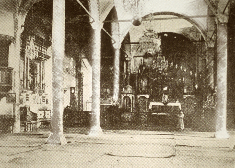 The interior of the Holy Redeemer Catholic church in Marash (Source: Kalusdian, op. cit.)